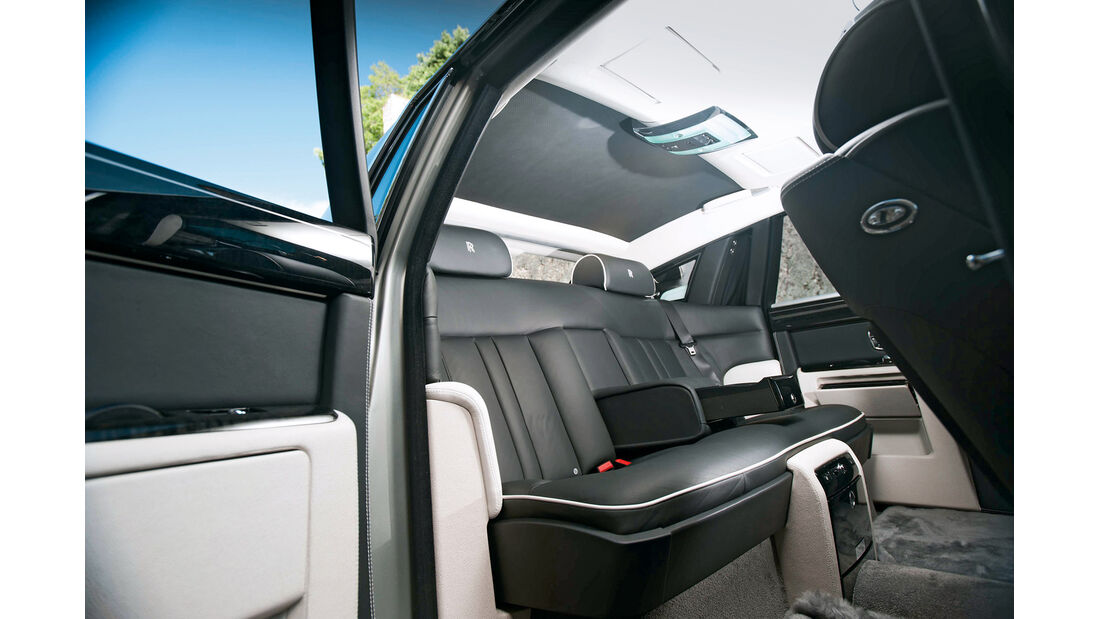 Rolls-Royce Phantom, Rückbank, Innenausstattung