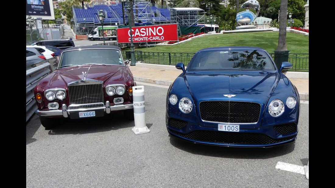 Rolls Royce Silver Shadow & Bentley Continental GT - Carspotting - GP Monaco 2017