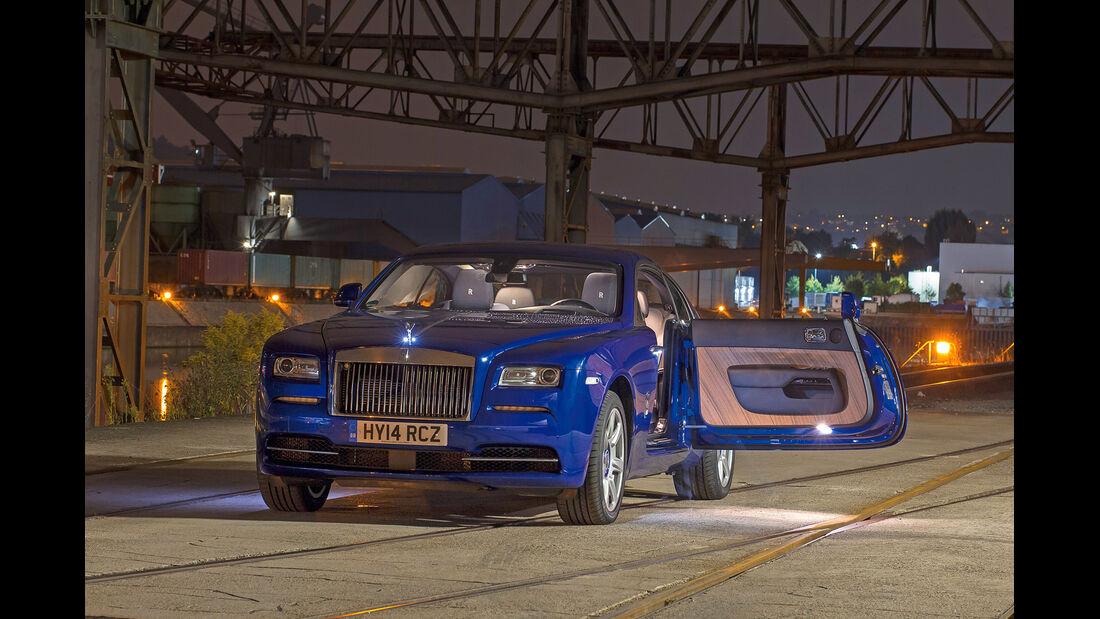 Rolls-Royce Wraith, Frontansicht, Seitentür