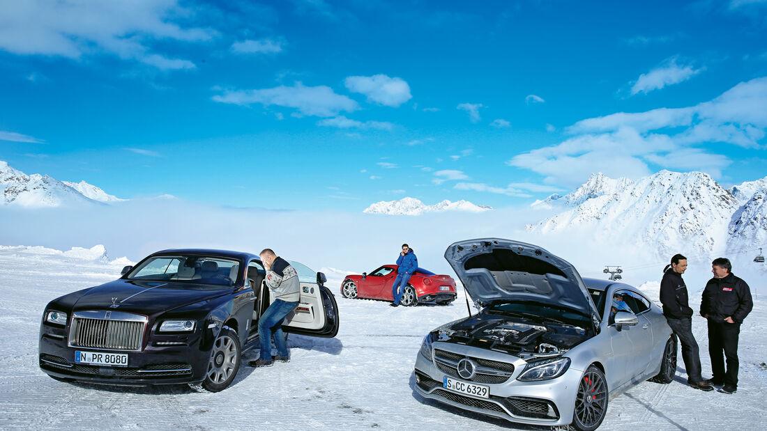 Rolls-Royce Wraith, Mercedes-AMG C 63 S Coupé, Alfa Romeo 4C