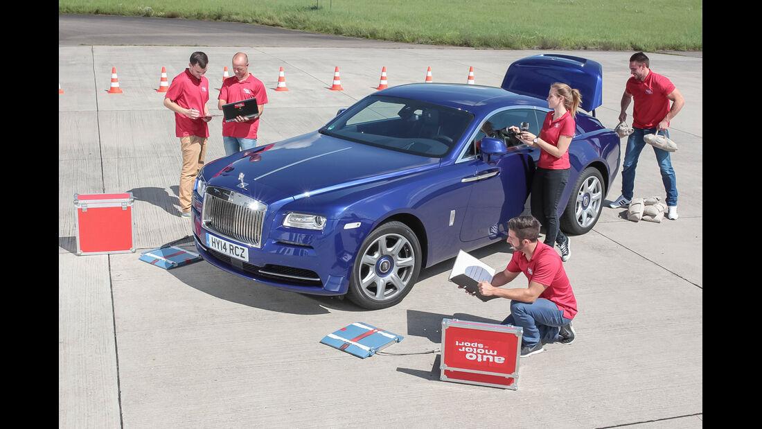 Rolls-Royce Wraith, Testaufbau