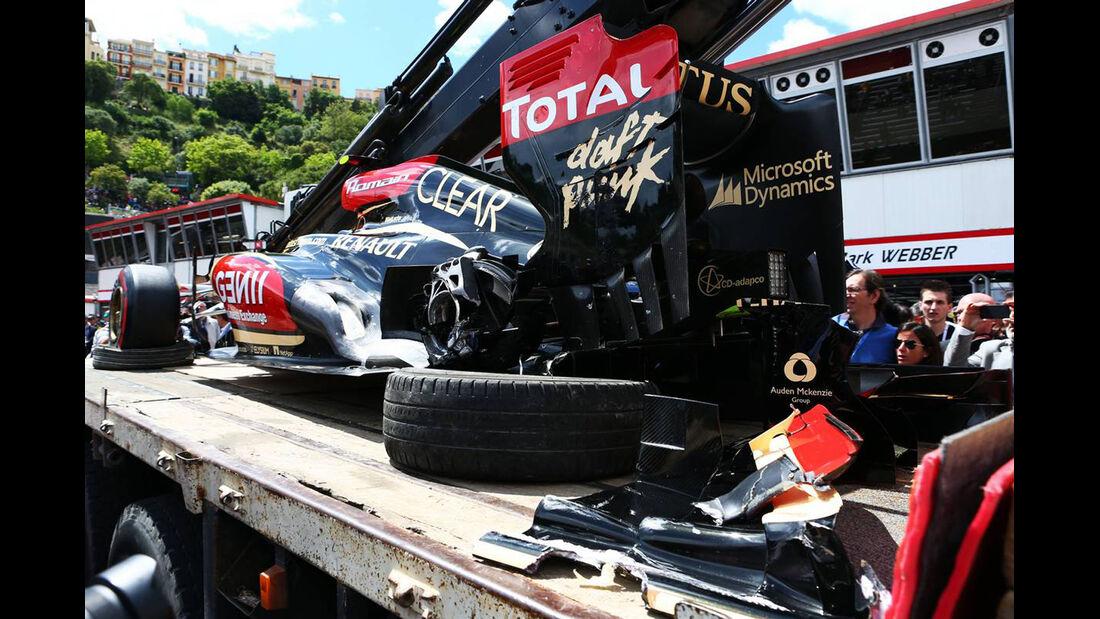 Romain Grosjean - Crash - Formel 1 - GP Monaco - 25. Mai 2013