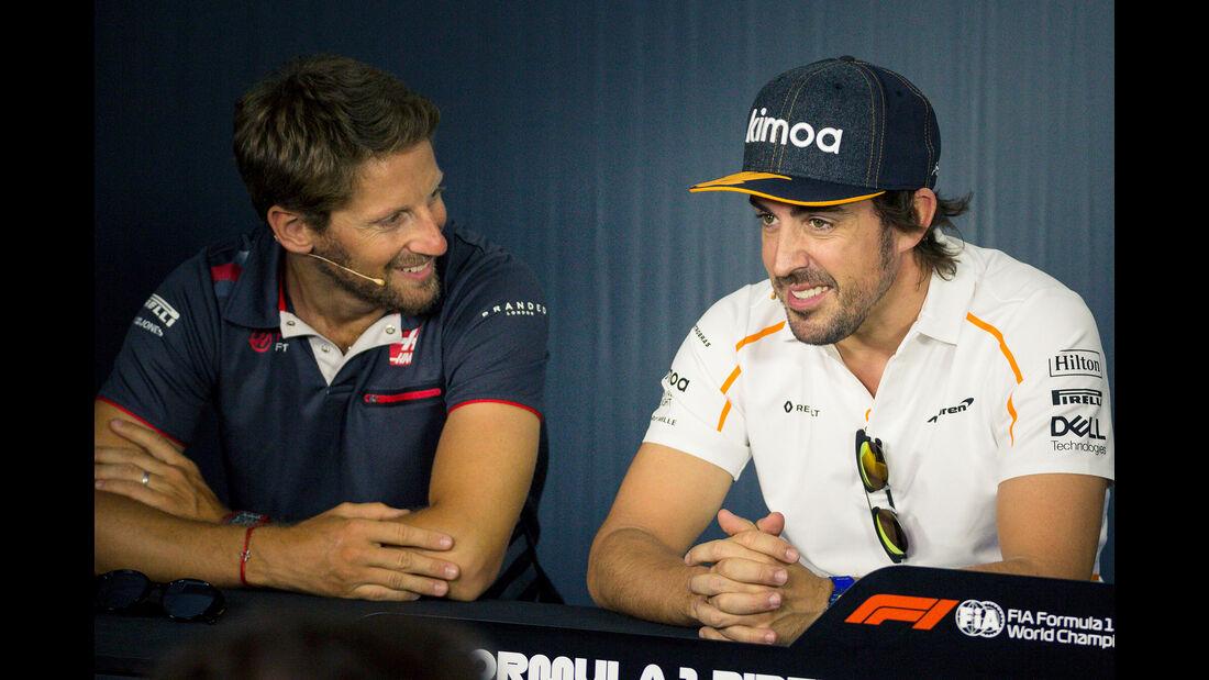Romain Grosjean & Fernando Alonso - GP Frankreich - Paul Ricard - Formel 1 - 21. Juni 2018