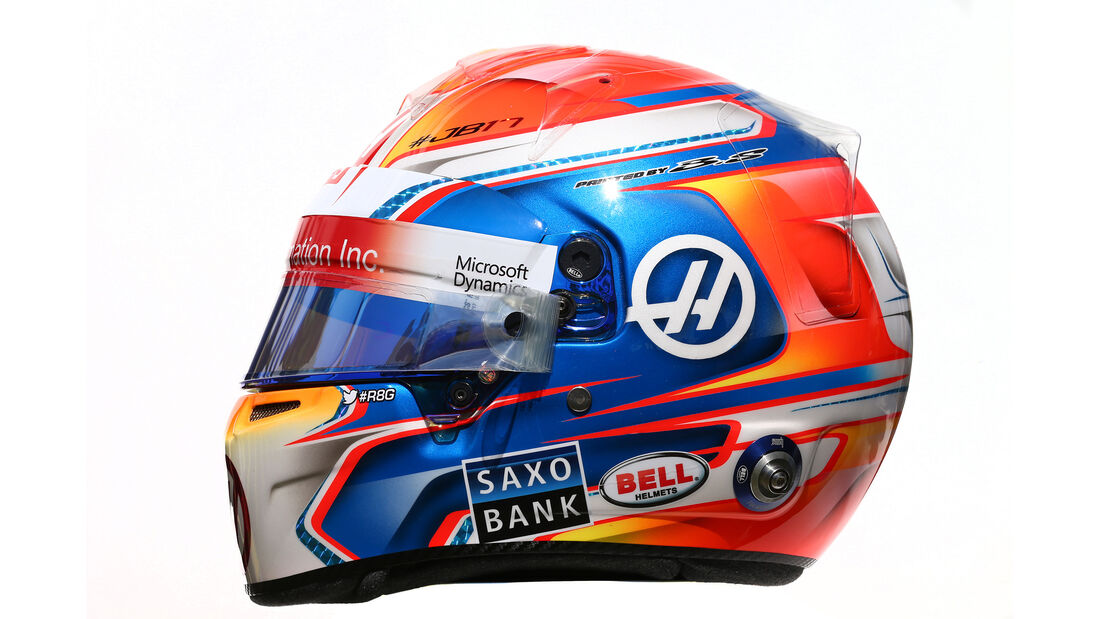 Romain Grosjean - Formel 1 - Helm - 2016