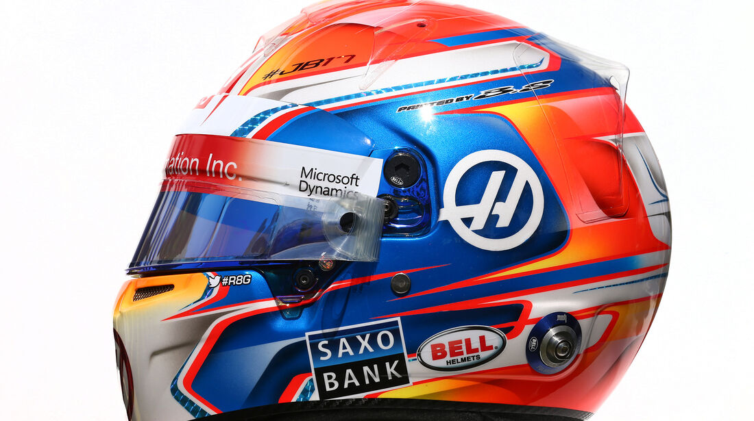 Romain Grosjean - Formel 1 - Helm - 2016