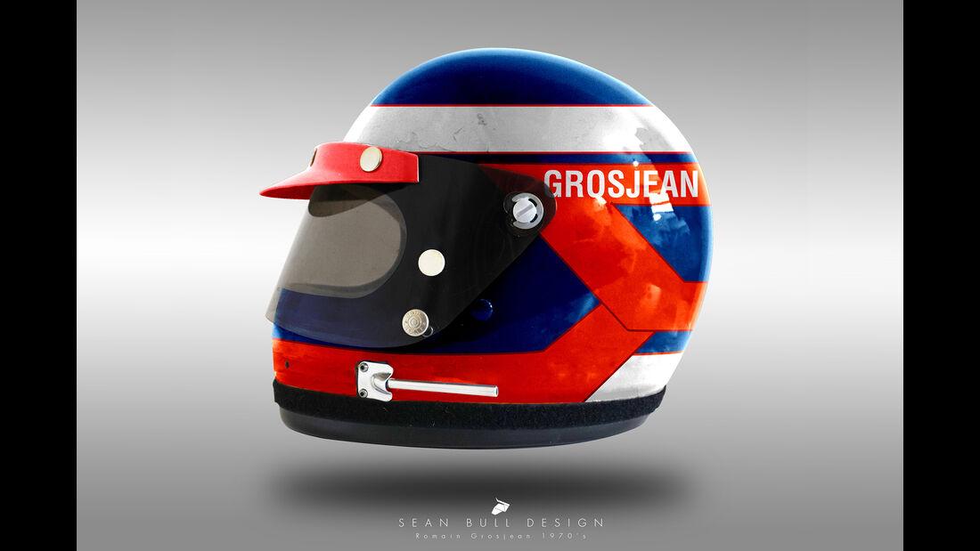 Romain Grosjean - Formel 1 - Retro-Helme - Sean Bull - 2018