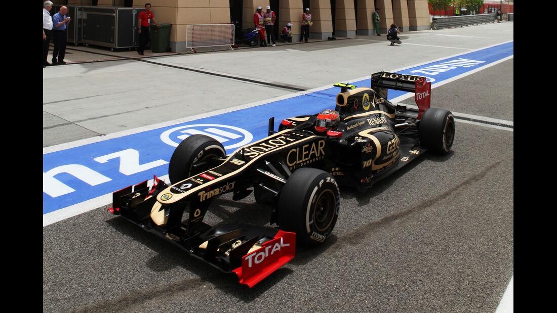 Romain Grosjean GP Bahrain 2012