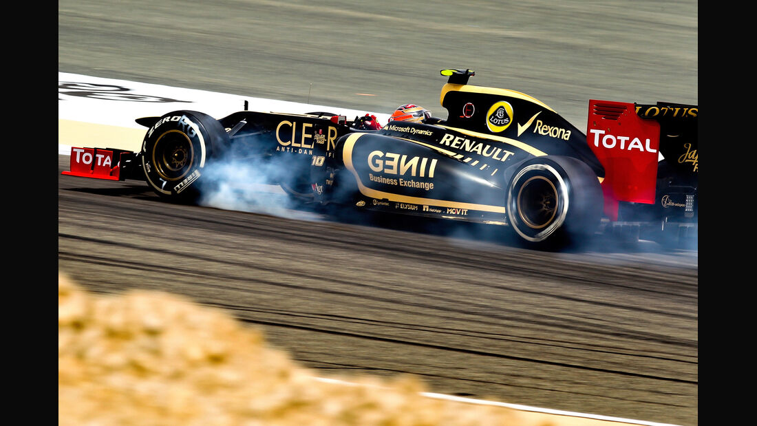 Romain Grosjean GP Bahrain 2012