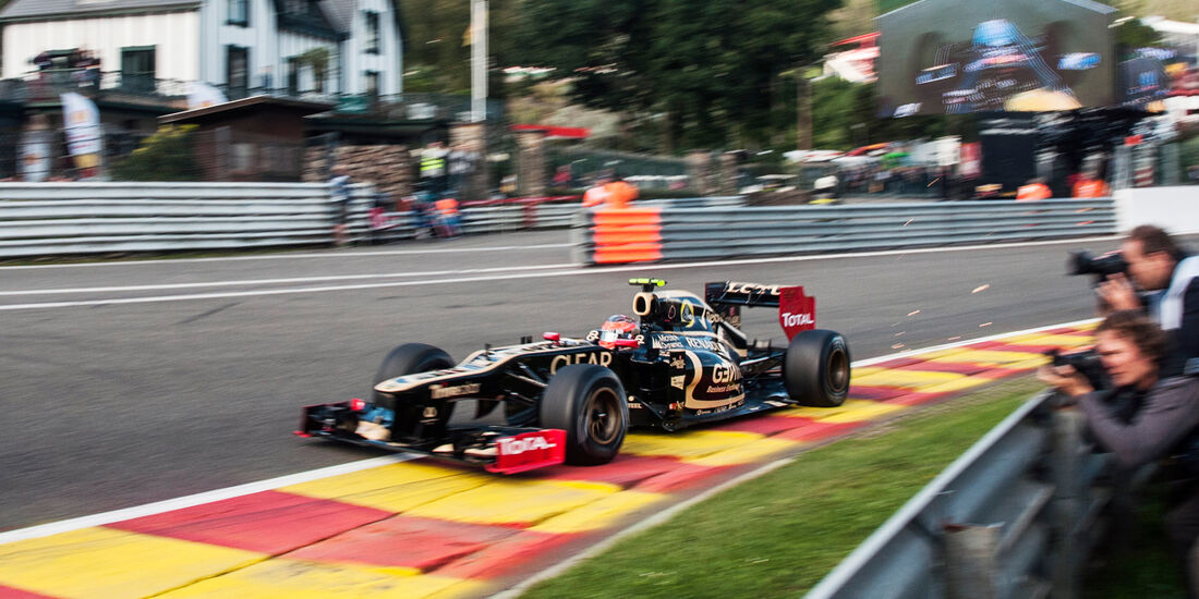 Romain Grosjean GP Belgien 2012
