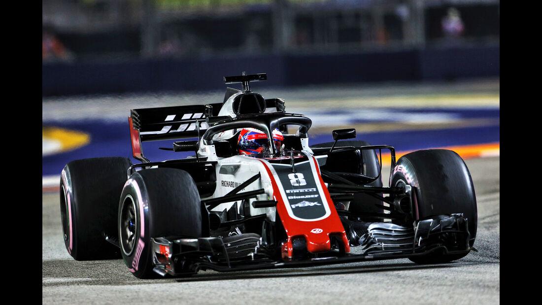 Romain Grosjean - GP Singapur 2018