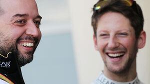 Romain Grosjean - Gerard Lopez - Lotus - Formel 1 - Bahrain - Test - 19. Februar 2014