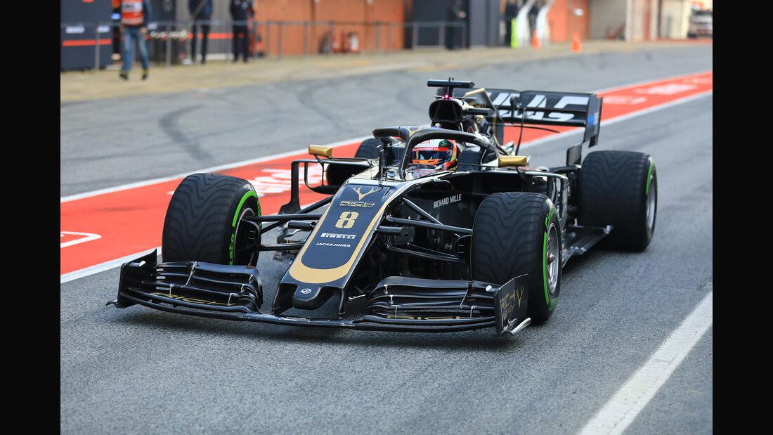 Romain Grosjean - Haas - Barcelona - F1-Test - 21. Februar 2019