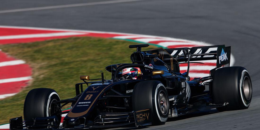 Romain Grosjean - Haas - Barcelona - F1-Test - 27. Februar 2019