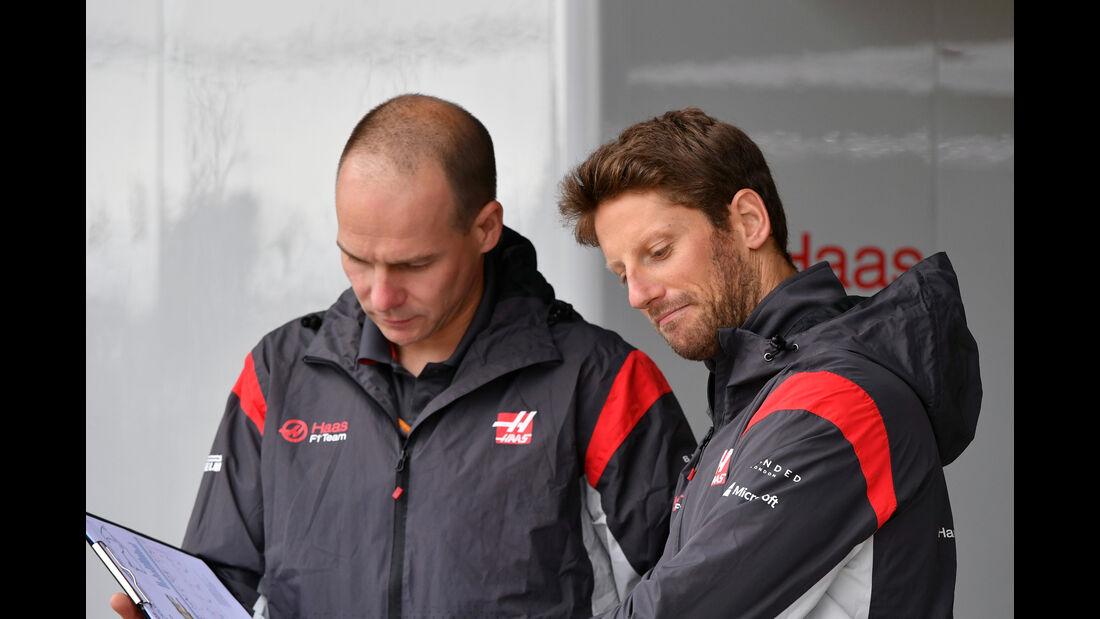 Romain Grosjean - Haas F1 - Formel 1 - GP England - 13. Juli 2017