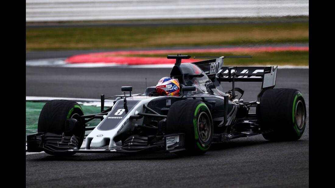 Romain Grosjean - Haas F1 - Formel 1 - GP England - 15. Juli 2017