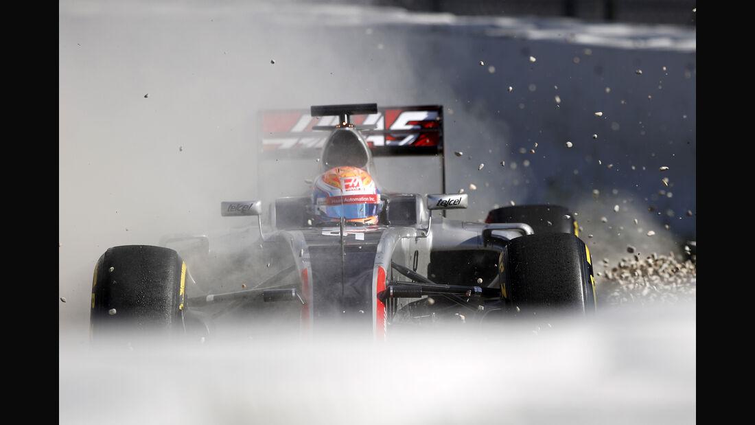 Romain Grosjean - Haas F1 - Formel 1-Test - Barcelona - 3. März 2016