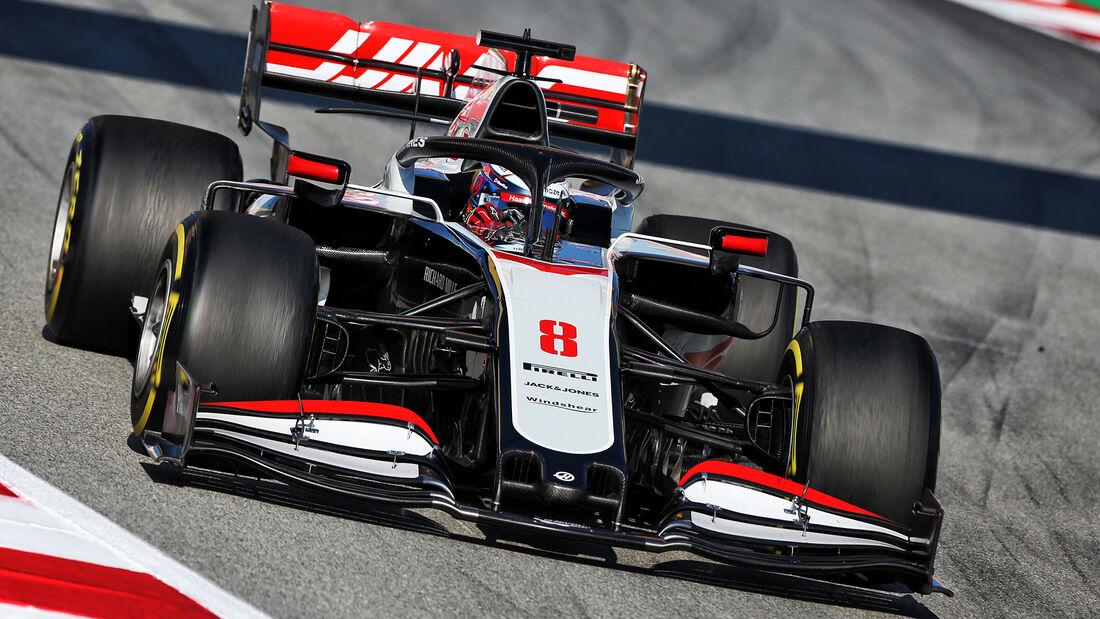 Romain Grosjean - Haas - F1-Test - Barcelona - 20. Februar 2020