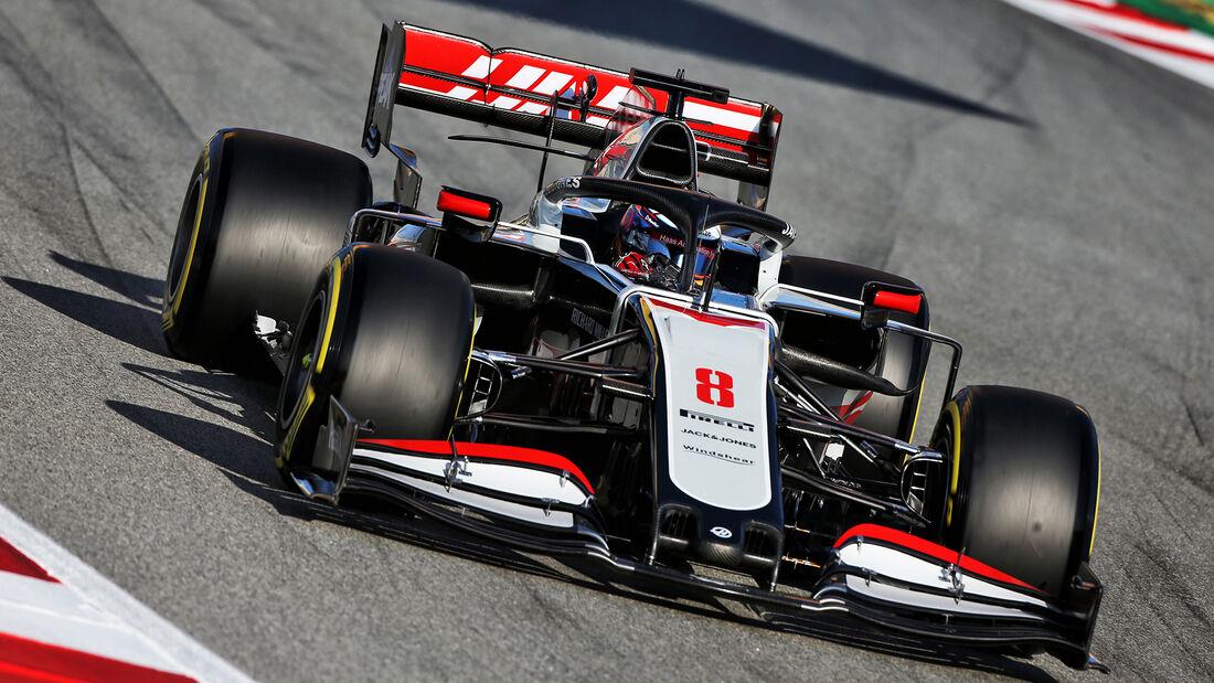 Romain Grosjean - Haas - F1-Test - Barcelona - 26. Februar 2020