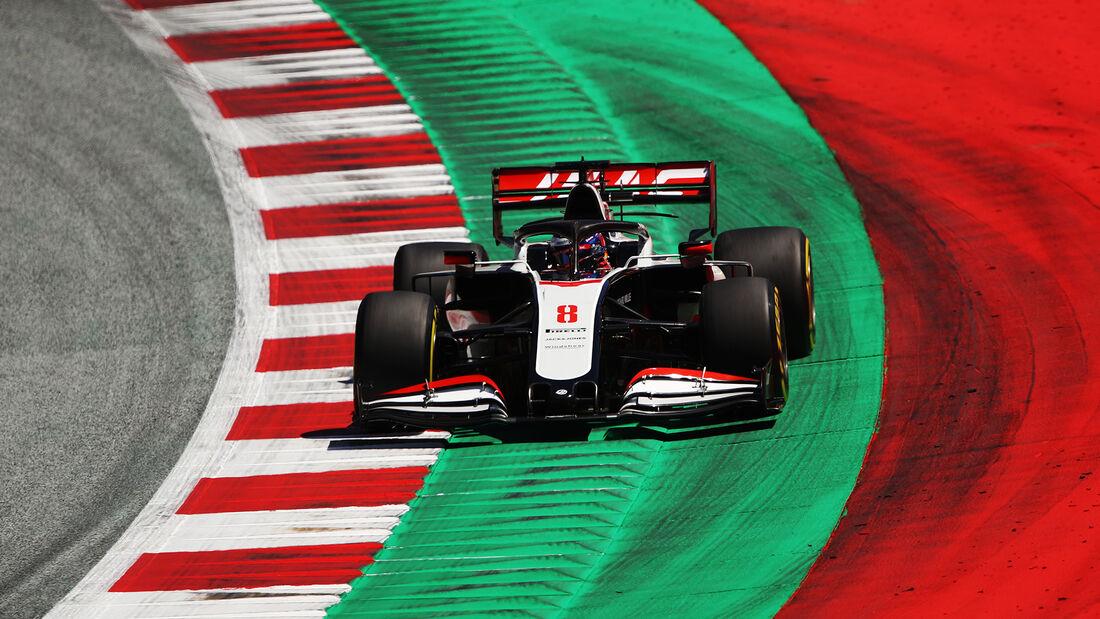 Romain Grosjean - Haas - Formel 1 - GP Steiermark - Österreich - Spielberg - 10. Juli 2020