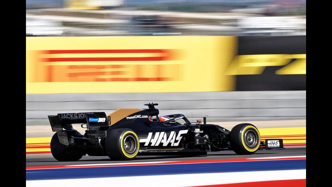 Romain Grosjean - Haas - Formel 1 - GP USA - Austin - 1. November 2019