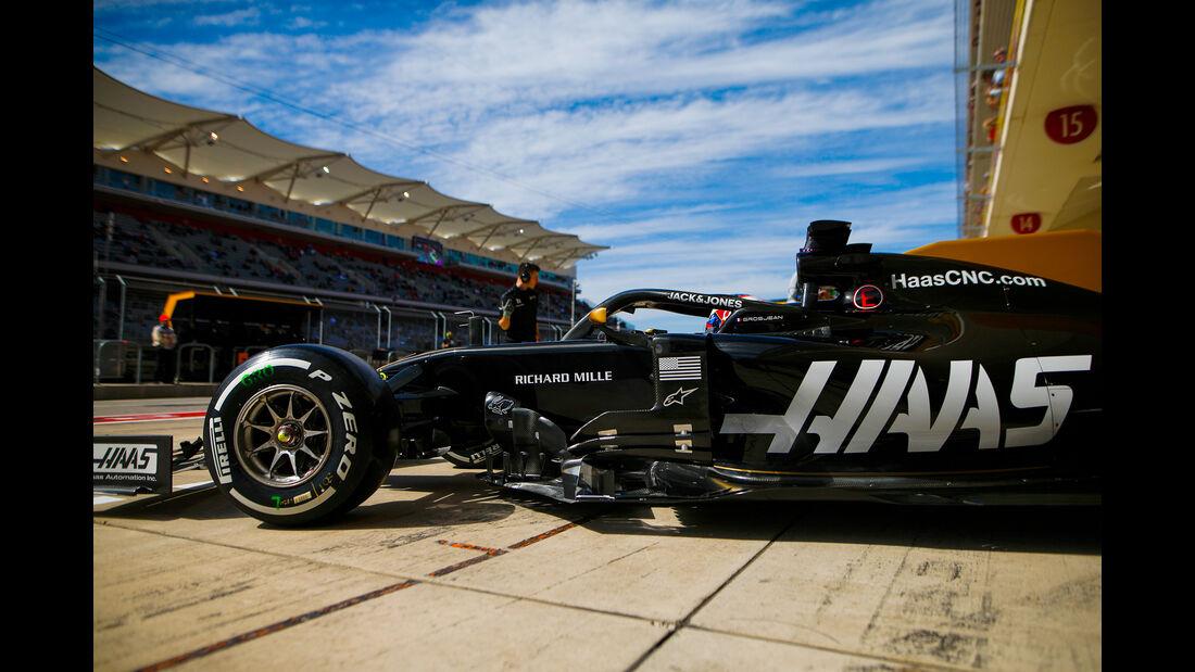 Romain Grosjean - Haas  - Formel 1 - GP USA - Austin - 2. November 2019