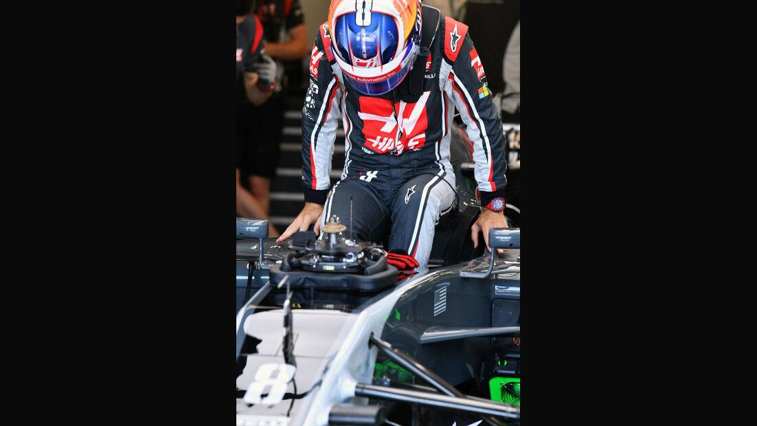 Romain Grosjean - HaasF1 - Formel 1 - GP Aseerbaidschan 2017 - Training - Freitag - 23.6.2017