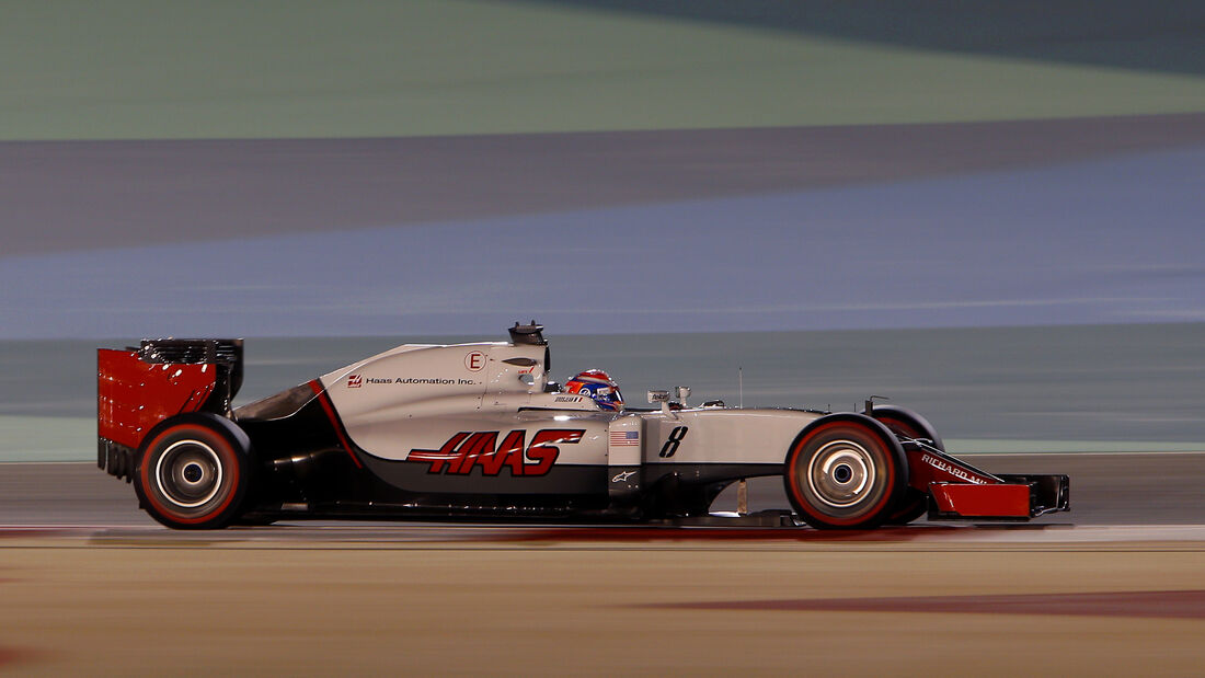 Romain Grosjean - HaasF1 - Formel 1 - GP Bahrain - 1. April 2016