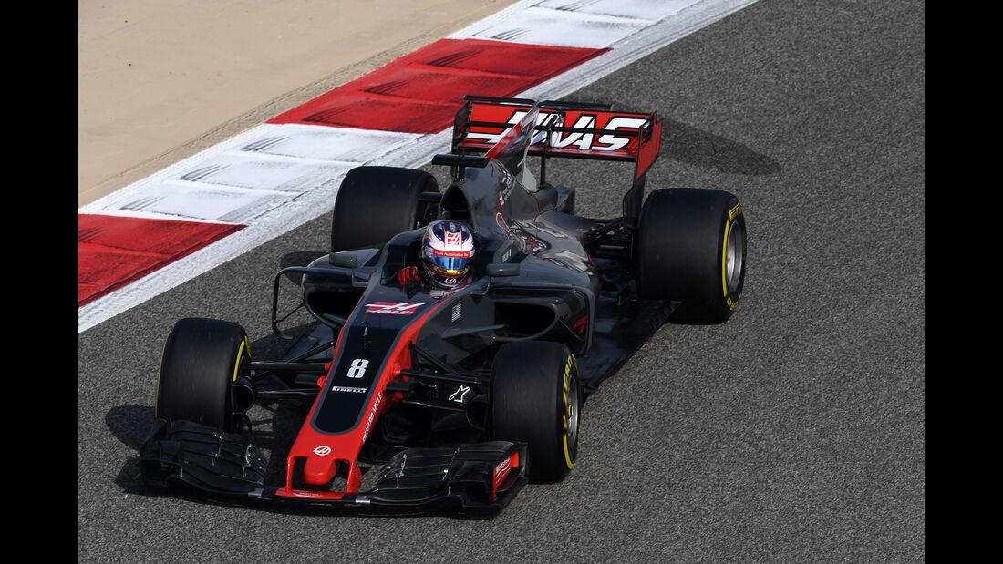 Romain Grosjean - HaasF1 - Formel 1 - GP Bahrain - Sakhir - Training - Freitag - 14.4.2017