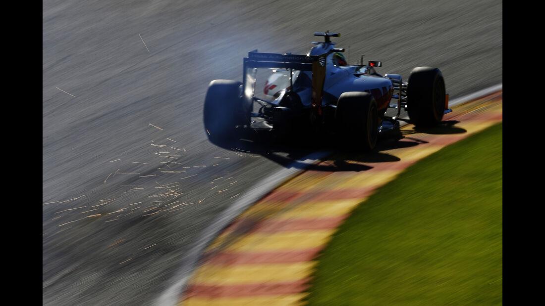 Romain Grosjean - HaasF1 - Formel 1 - GP Belgien - Spa-Francorchamps - 26. August 2016