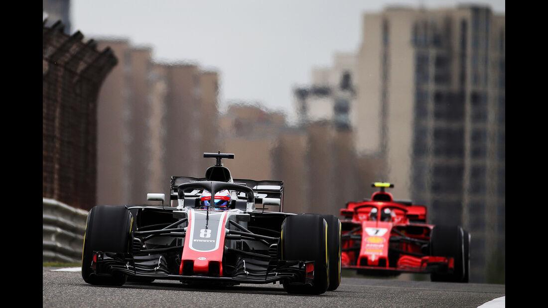 Romain Grosjean - HaasF1 - Formel 1 - GP China - Shanghai - 13. April 2017