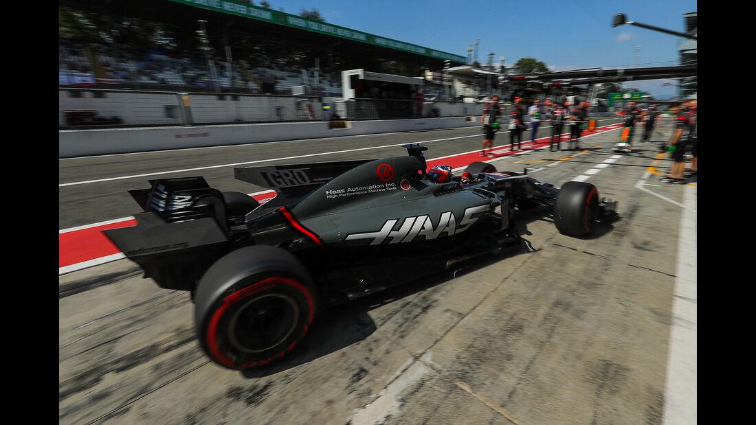 Romain Grosjean - HaasF1 - Formel 1 - GP Italien - Monza - 1. September 2017