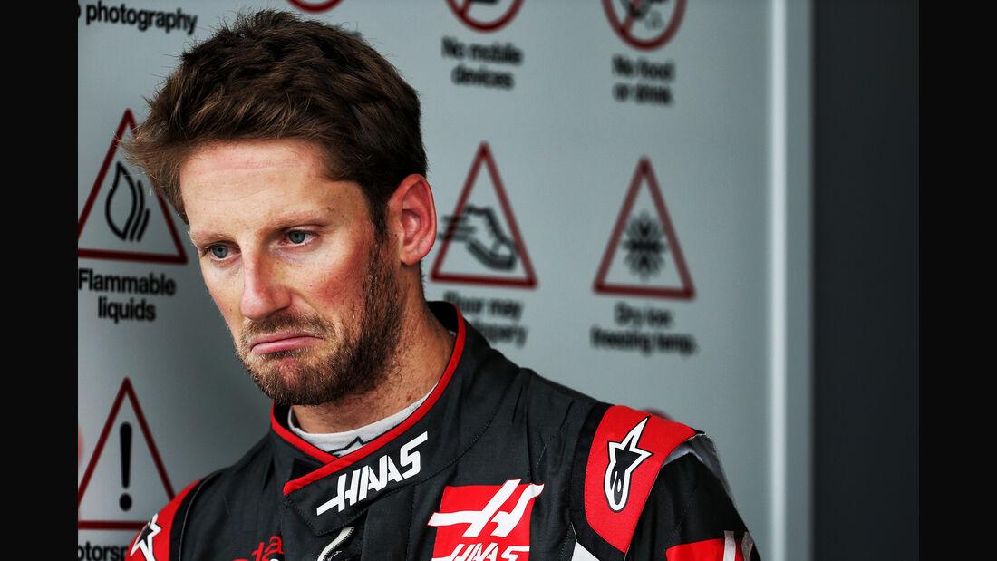Romain Grosjean - HaasF1 - Formel 1 - GP Japan - Suzuka - 6. Oktober 2017