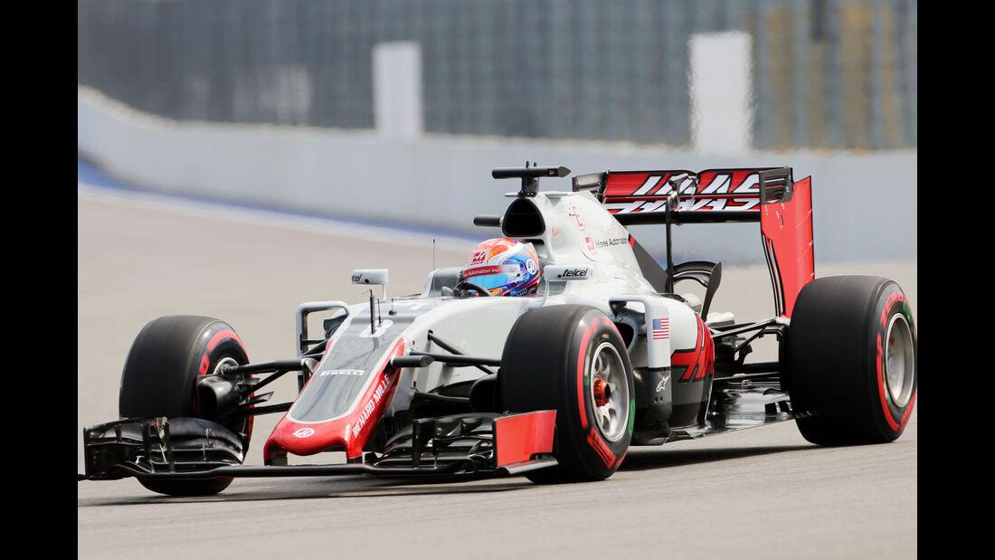 Romain Grosjean - HaasF1 - Formel 1 - GP Russland - 29. April 2016