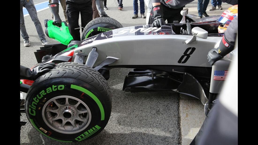 Romain Grosjean - HaasF1 - Formel 1-Test - Barcelona - 22. Februar 2016