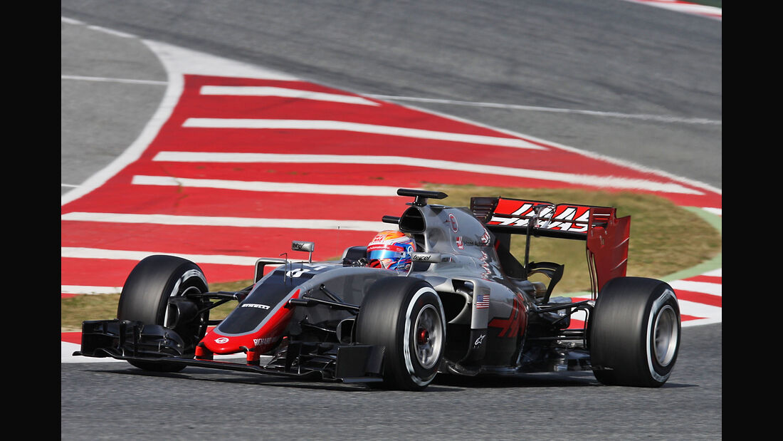 Romain Grosjean - HaasF1 - Formel 1-Test - Barcelona - 24. Februar 2016