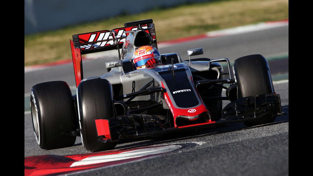 Romain Grosjean - HaasF1 - Formel 1-Test - Barcelona - 4. März 2016