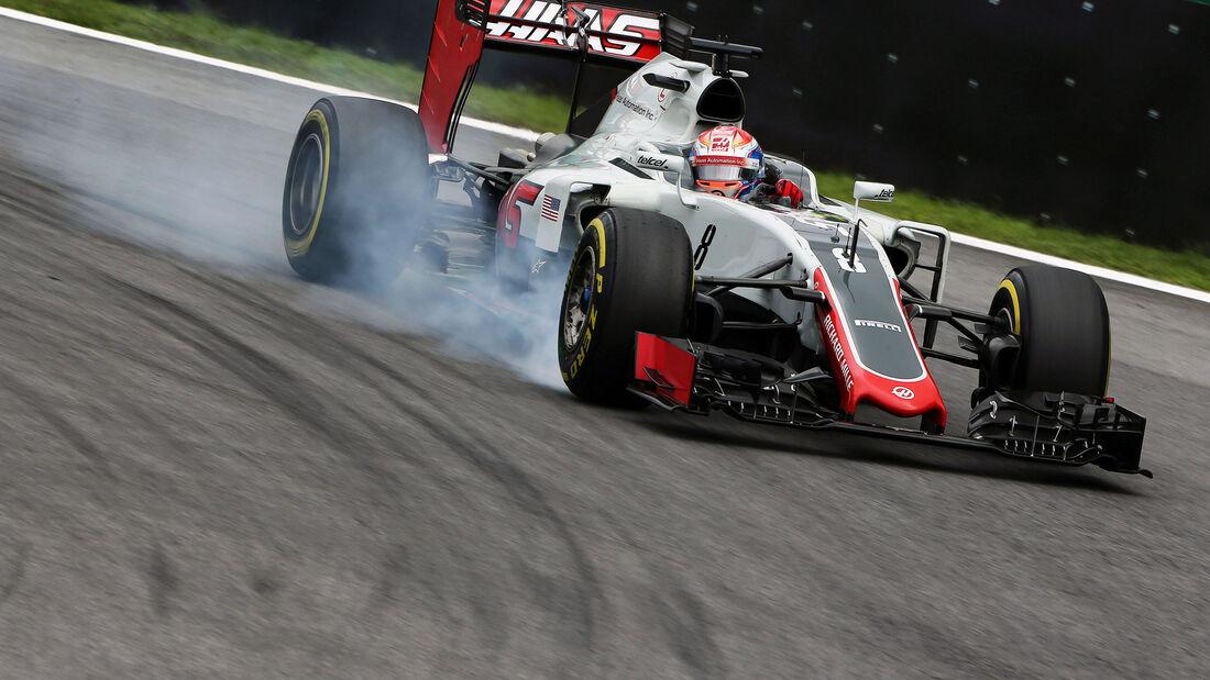 Romain Grosjean - HaasF1 - GP Brasilien 2016 - Interlagos - Qualifying