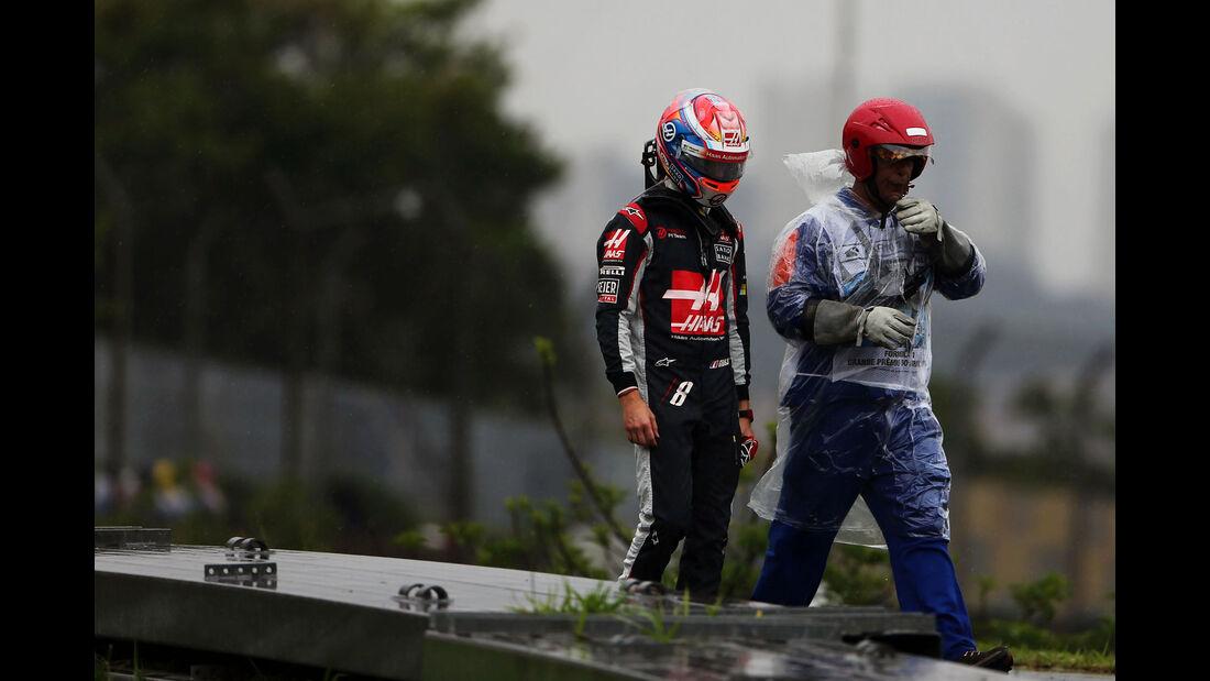 Romain Grosjean - HaasF1 - GP Brasilien 2016 - Interlagos - Rennen