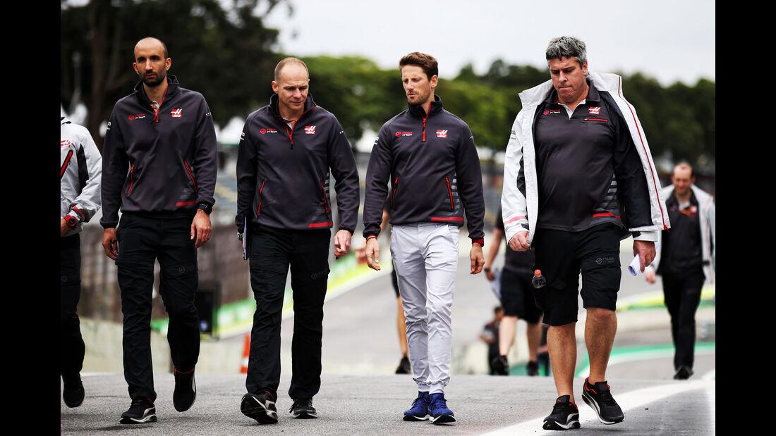 Romain Grosjean - HaasF1 - GP Brasilien - Interlagos - Formel 1 - Donnerstag - 8.11.2018