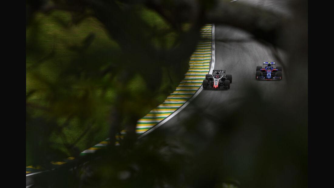 Romain Grosjean - HaasF1 - GP Brasilien - Interlagos - Formel 1 - Samstag - 10.11.2018
