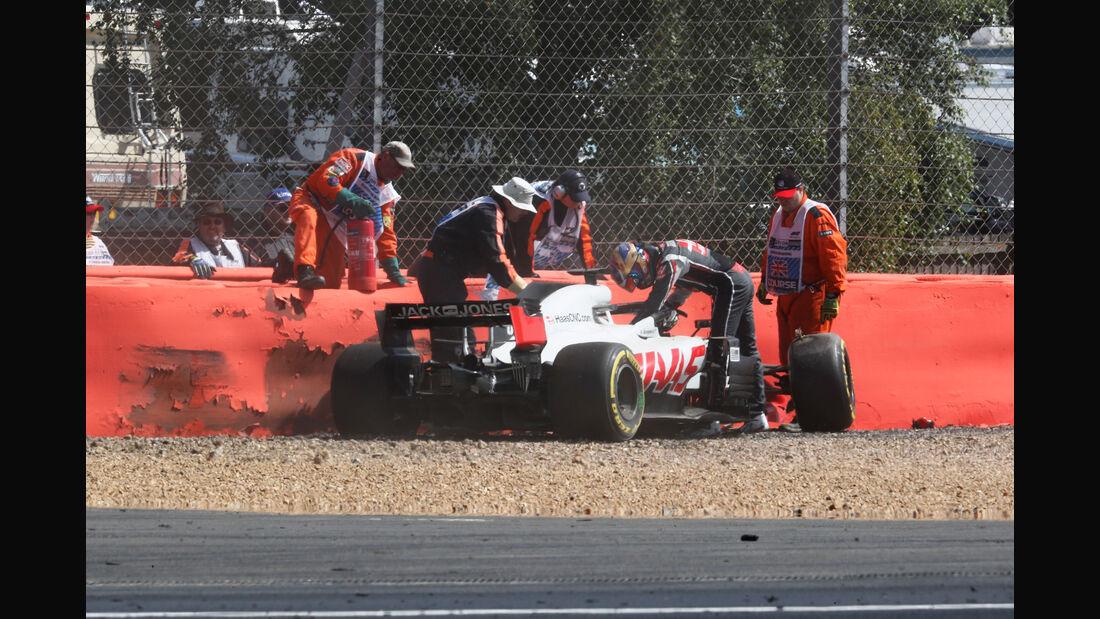 Romain Grosjean - HaasF1 - GP England - Silverstone - Formel 1 - Freitag - 6.7.2018