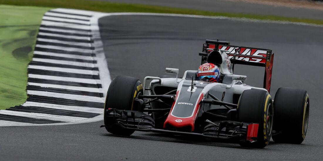 Romain Grosjean - HaasF1 - GP England - Silverstone - Qualifying - Samstag - 9.7.2016