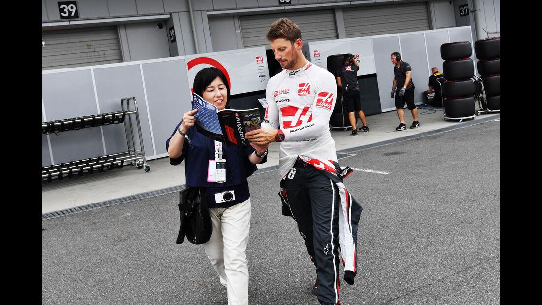 Romain Grosjean - HaasF1 - GP Japan - Suzuka - Formel 1 - Samstag - 6.10.2018