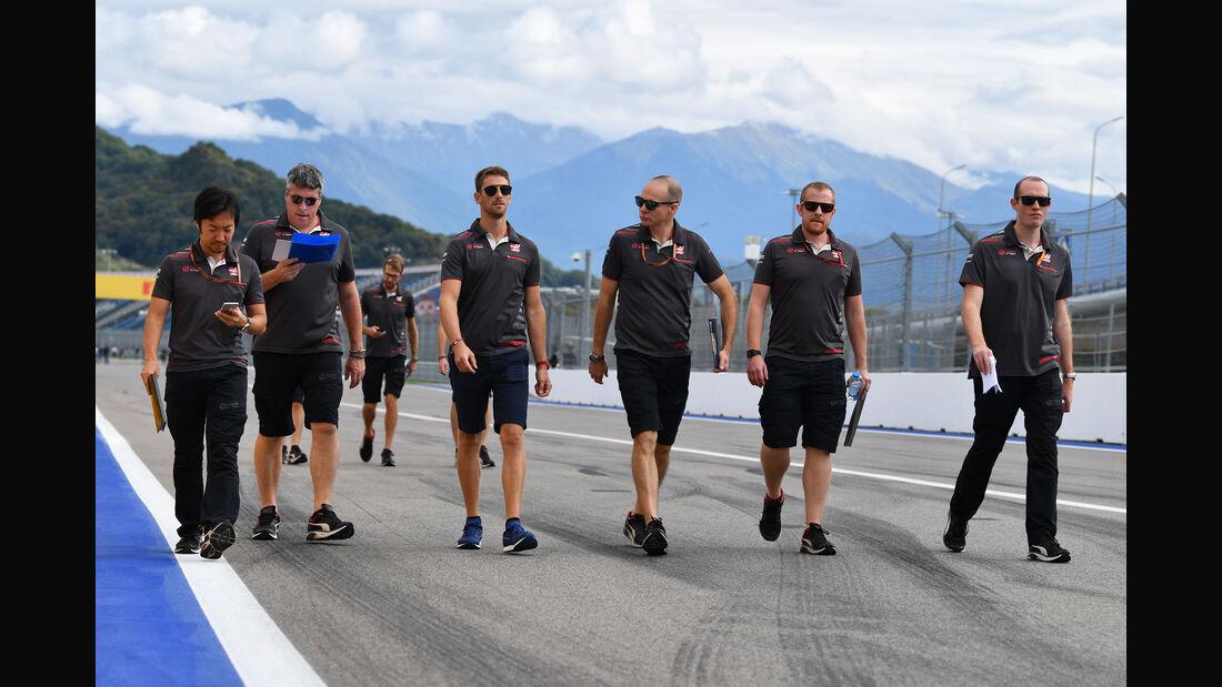 Romain Grosjean - HaasF1 - GP Russland - Sotschi - Formel 1 - Donnerstag - 27.9.2018