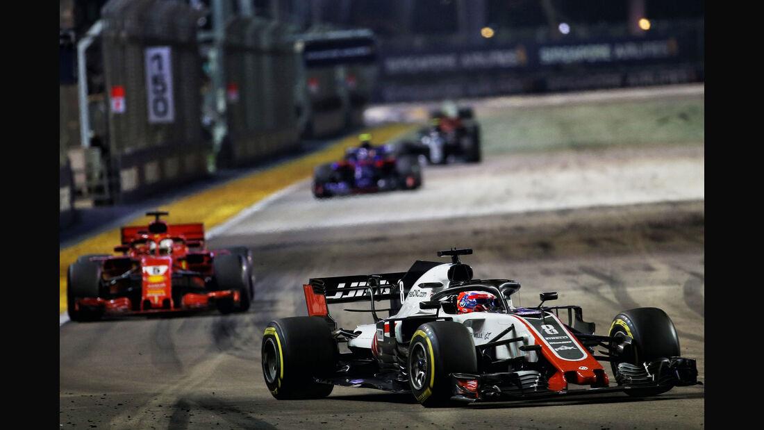 Romain Grosjean - HaasF1 - GP Singapur 2018