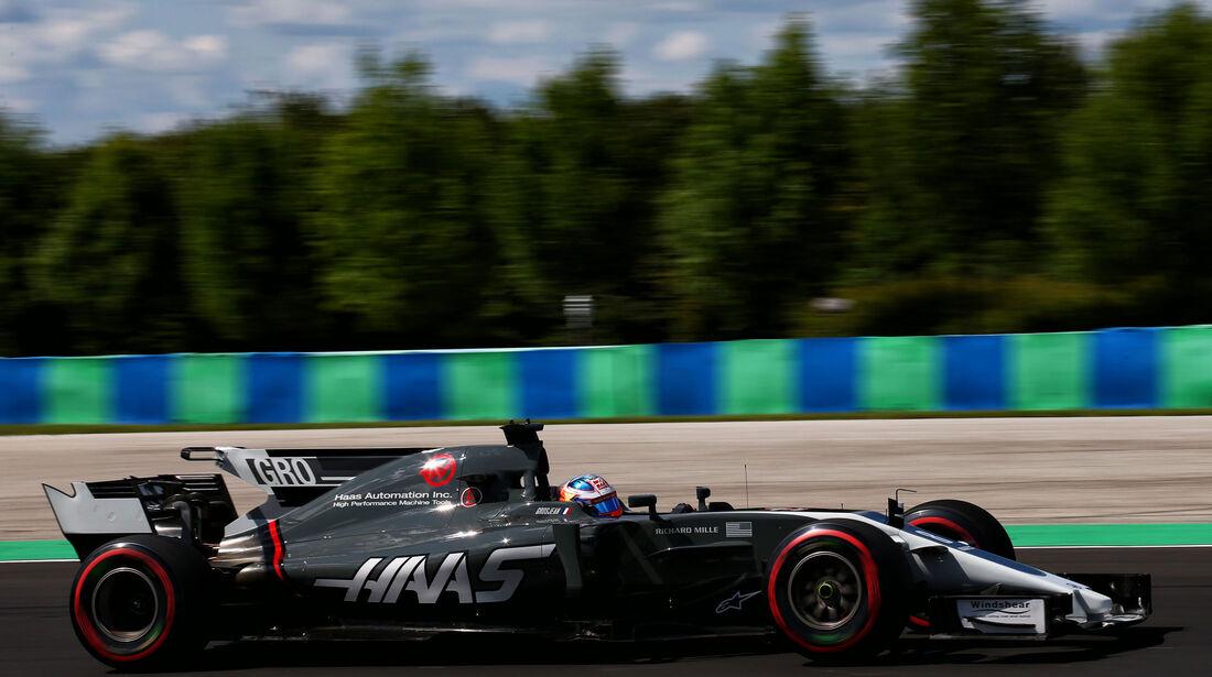 Romain Grosjean - HaasF1 - GP Ungarn - Budapest - Formel 1 - Freitag - 28.7.2017