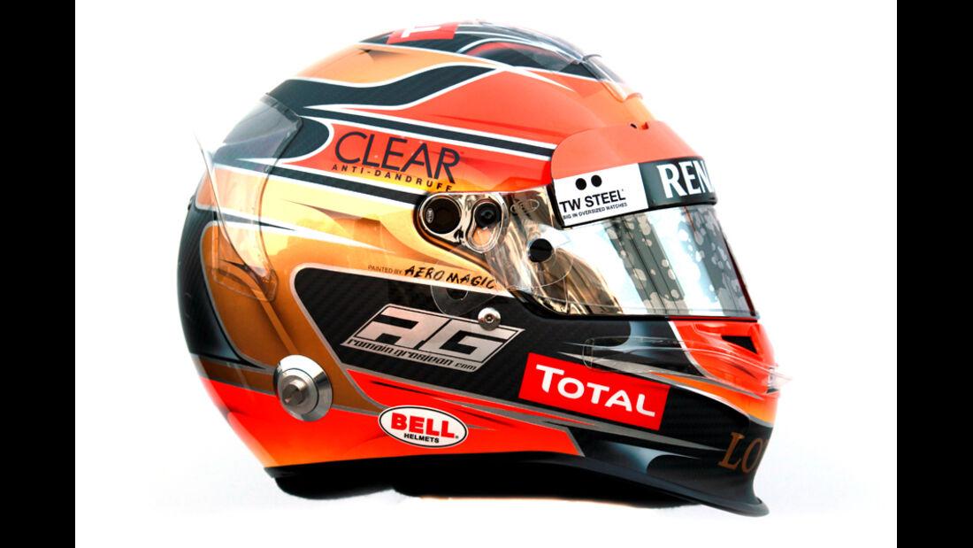Romain Grosjean Helm 2012