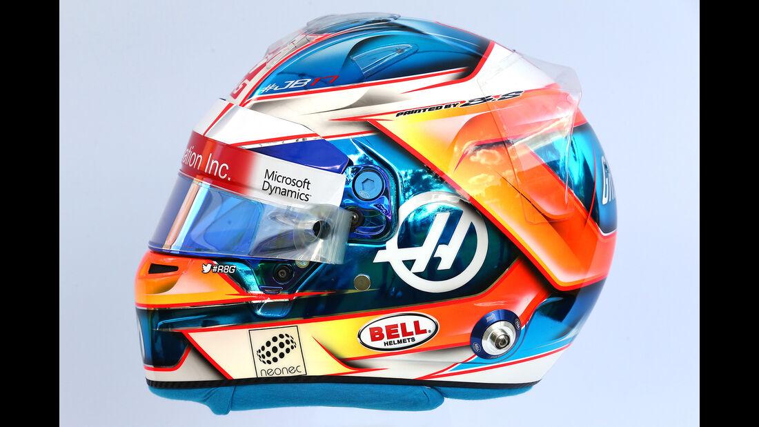 Romain Grosjean - Helm - Formel 1 - 2017