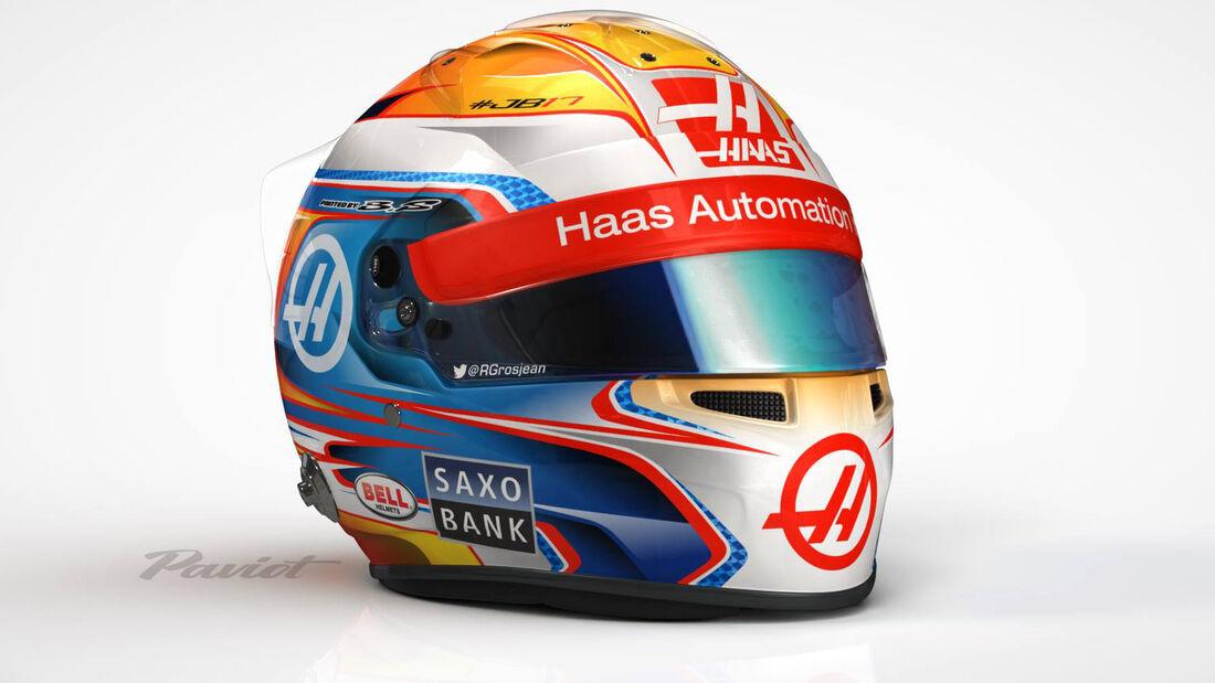 Romain Grosjean - Helm - Haas F1 - 2016
