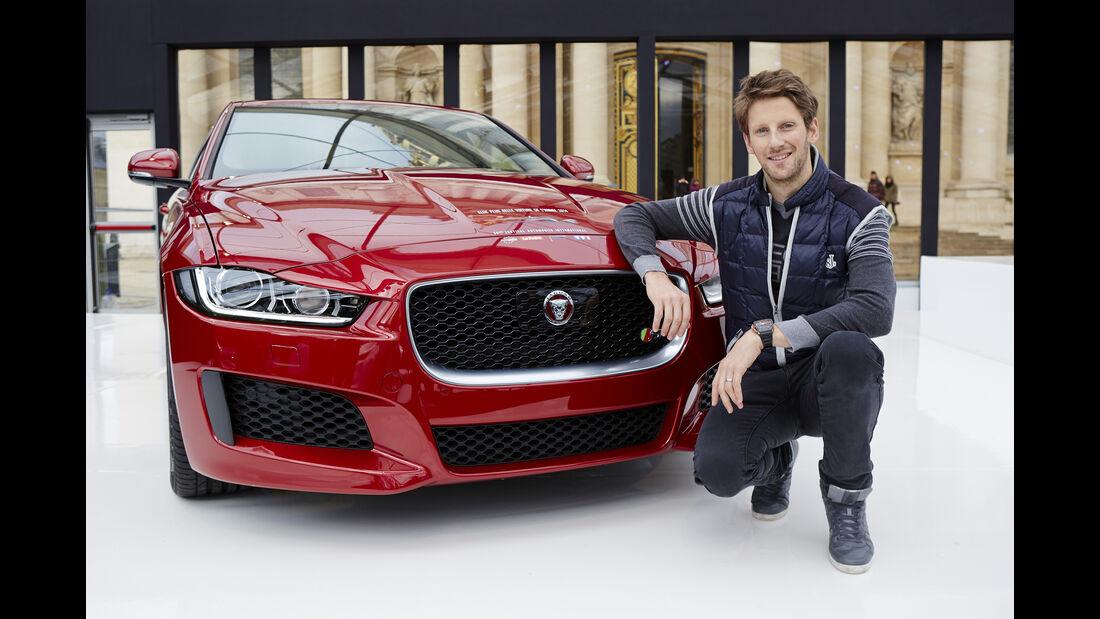 Romain Grosjean - Jaguar XF - Privatautos